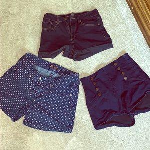 Woman's set of 3 shorts bundle size 27
